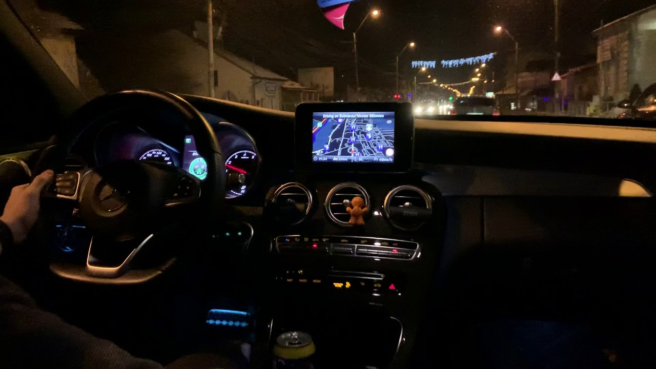 Mercedes Benz C200 Amg Line City Night Driving Eco Mode