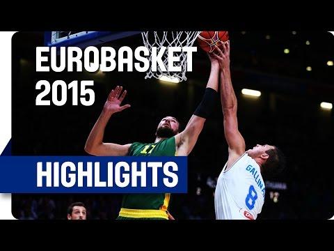 Italy v Lithuania - Quarter Final - Game Highlights - EuroBasket 2015