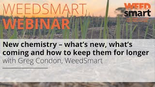 Webinar: New chemistry – What's new, what's coming & how to keep them for longer with Greg Condon