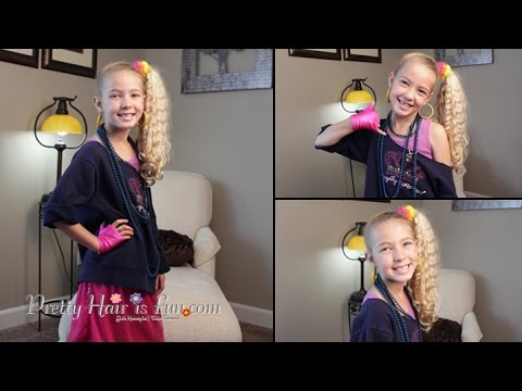 how to 80s style halloween hairstyle and costume pretty