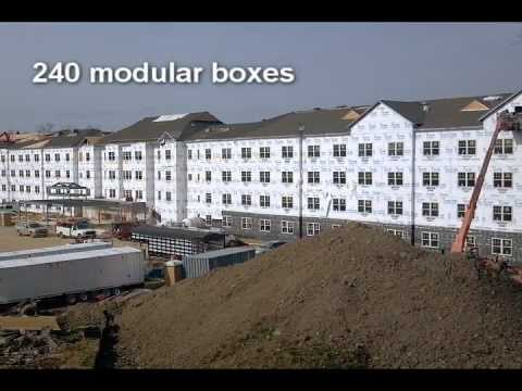 Modular Student Housing Construction Time-Lapse