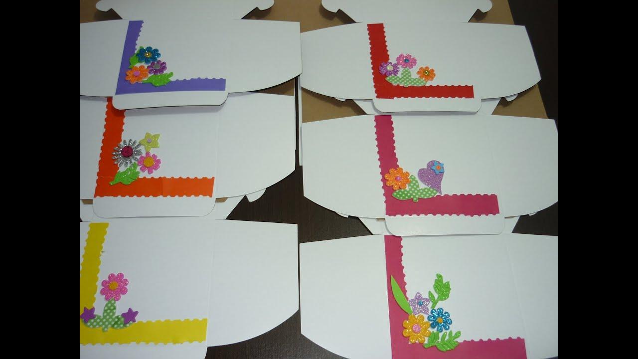 Cajas de Cartn decoradas fcilmente Manualidades para Regalar