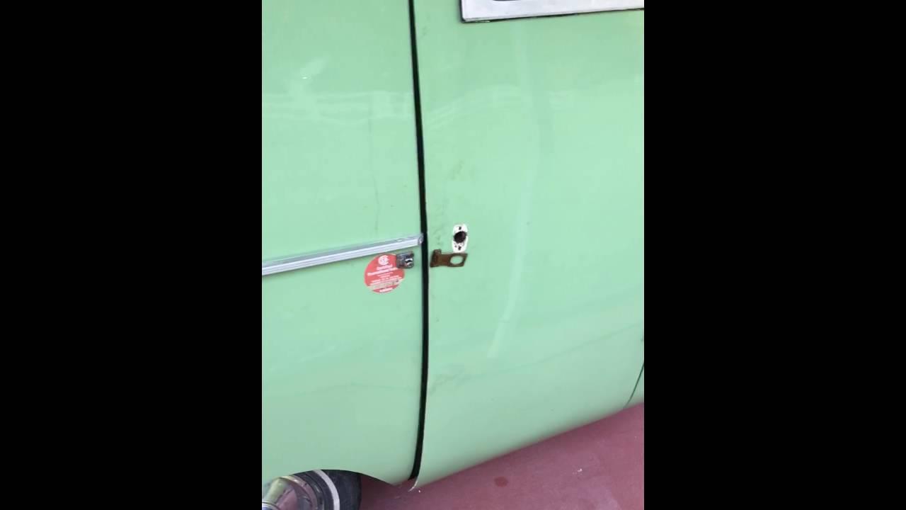 Vintage Camper Door Handle Removal