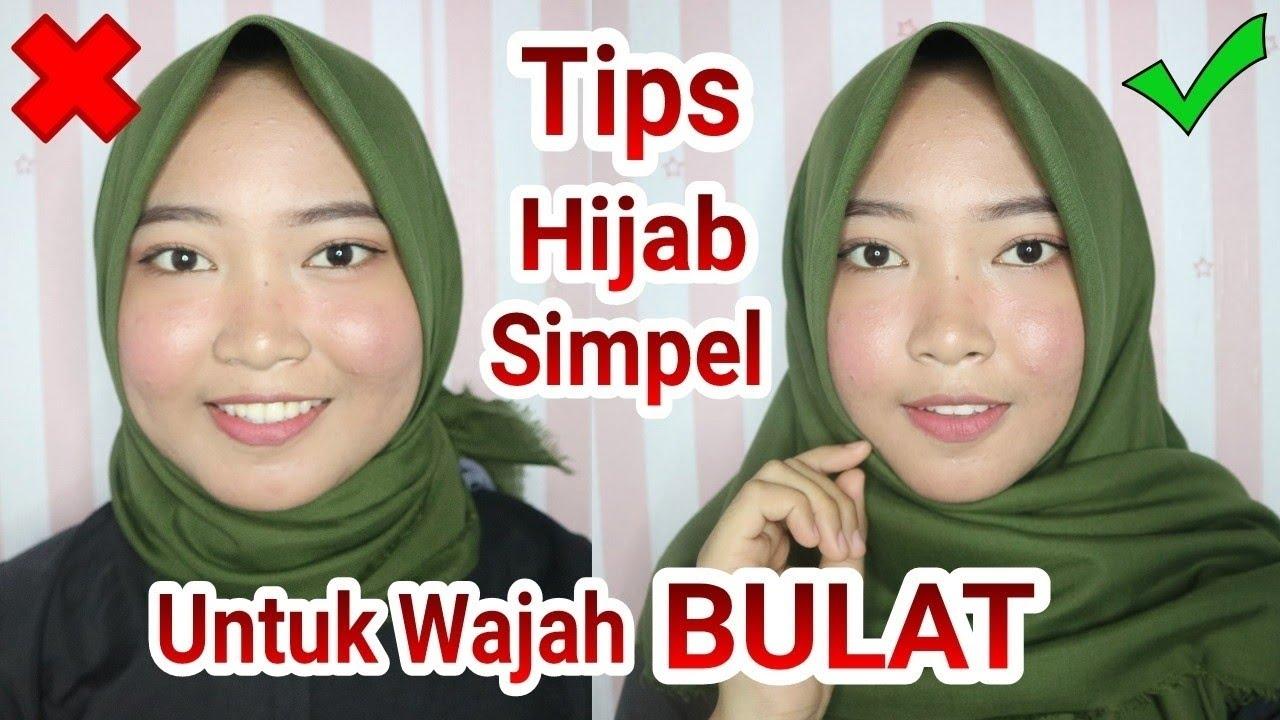 Tutorial Hijab Simpel Untuk Wajah Bulat Agar Terlihat Tirus Vina Maysha Youtube