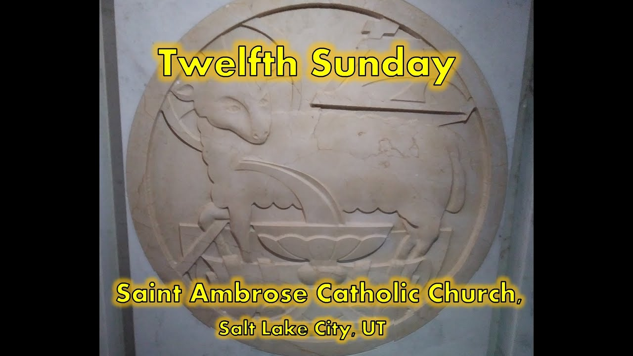 Twelfth Sunday in Ordinary Time B