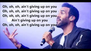David craig-  Aint Giving up Lyrics