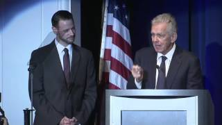 Howard Cosell's Grandson Impersonates Him During Tim McCarver's Sports Broadcasting HOF Acceptance
