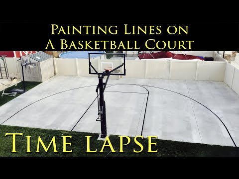 DIY - Time Lapse Painting Lines on a Basketball Court