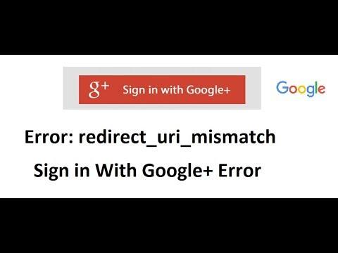 Error Redirect Uri Mismatch
