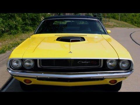 1970 Dodge Challenger RT SE 440 V8 Shaker Hood Mopar Muscle Car - Start Up And Idle
