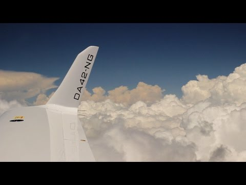 IFR Cloud Surfing - Racing Storms - DA42 - TwinStar G1000 - ATC audio