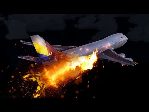 Boeing 747 on Fire Explodes Mid-Air | Asiana Airlines Flight 991 | 4K