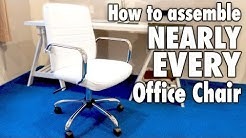 How to assemble nearly every OFFICE CHAIR - White bonded leather Costco furniture
