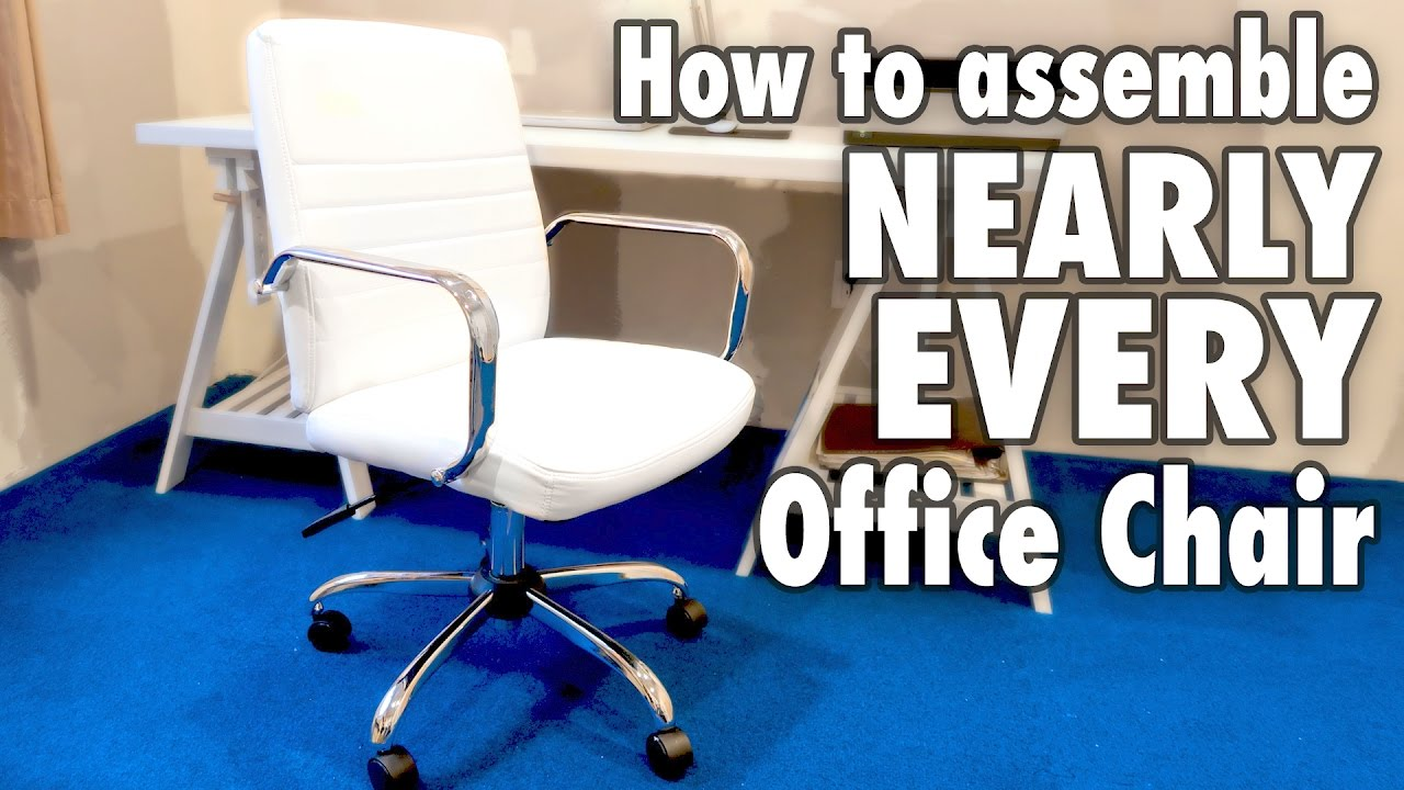 How To Assemble Nearly Every Office Chair White Bonded Leather Costco Furniture Youtube