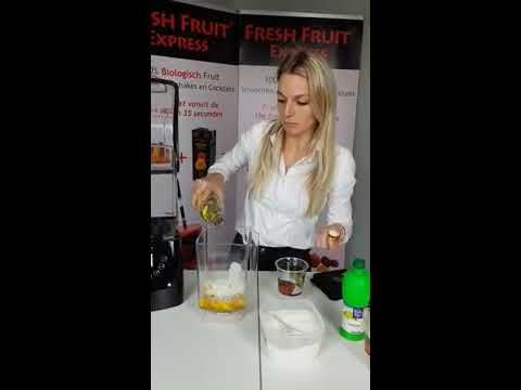 Fresh Fruit Express Bereiding Cocktail Blender met geluidskap Nederlands