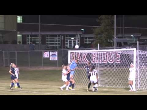 Katie Beuerlein crashes Into Oak Ridge keeper on corner.mov