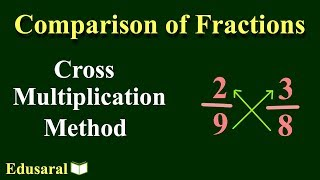 Comparison of Fractions - Cr๐ss Multiplication Method | Number System | Competitive Exams | Edusaral