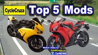 Top 5 Mods To Get For Motorcycle | MotoVlog