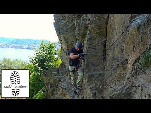 Klettersteig Nochern : Tour auf dem mittelrhein klettersteig youtube