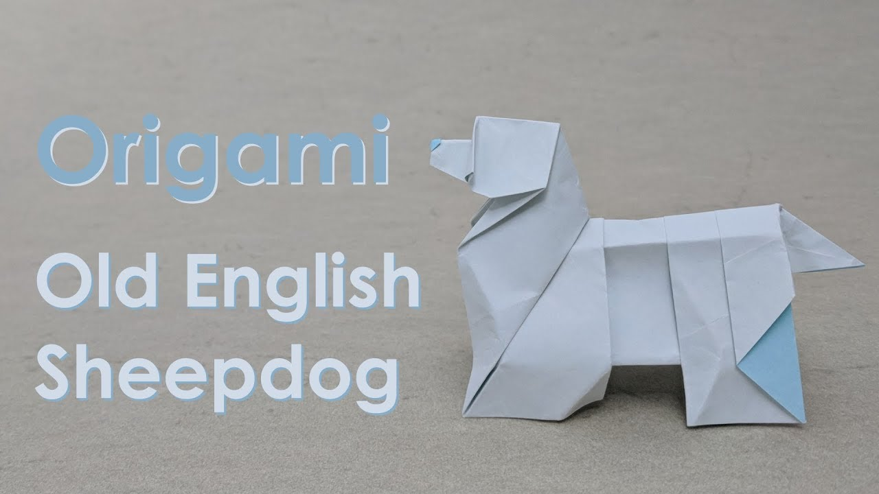 Origami Tutorial Old English Sheepdog Steven Casey Youtube Animals Dachshund Paper Folding Diagram
