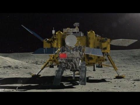 A sonda chinesa  Chang'e 4  aluniza con éxito na cara oculta da Lúa