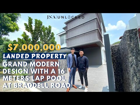 [Braddell Road] JNAUnlocked 10 | Landed property with a grand modern design and a 16 meters lap pool