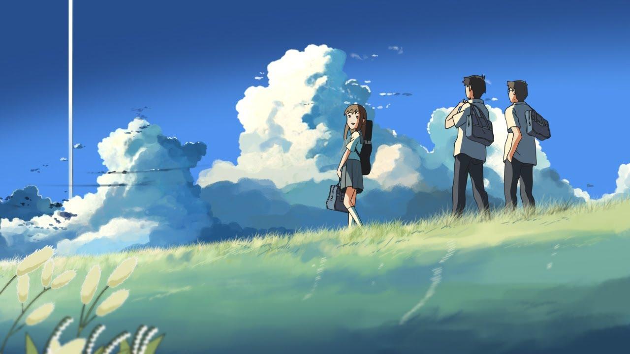 新海誠の雲のむこう、約束の場所のシーンの壁紙
