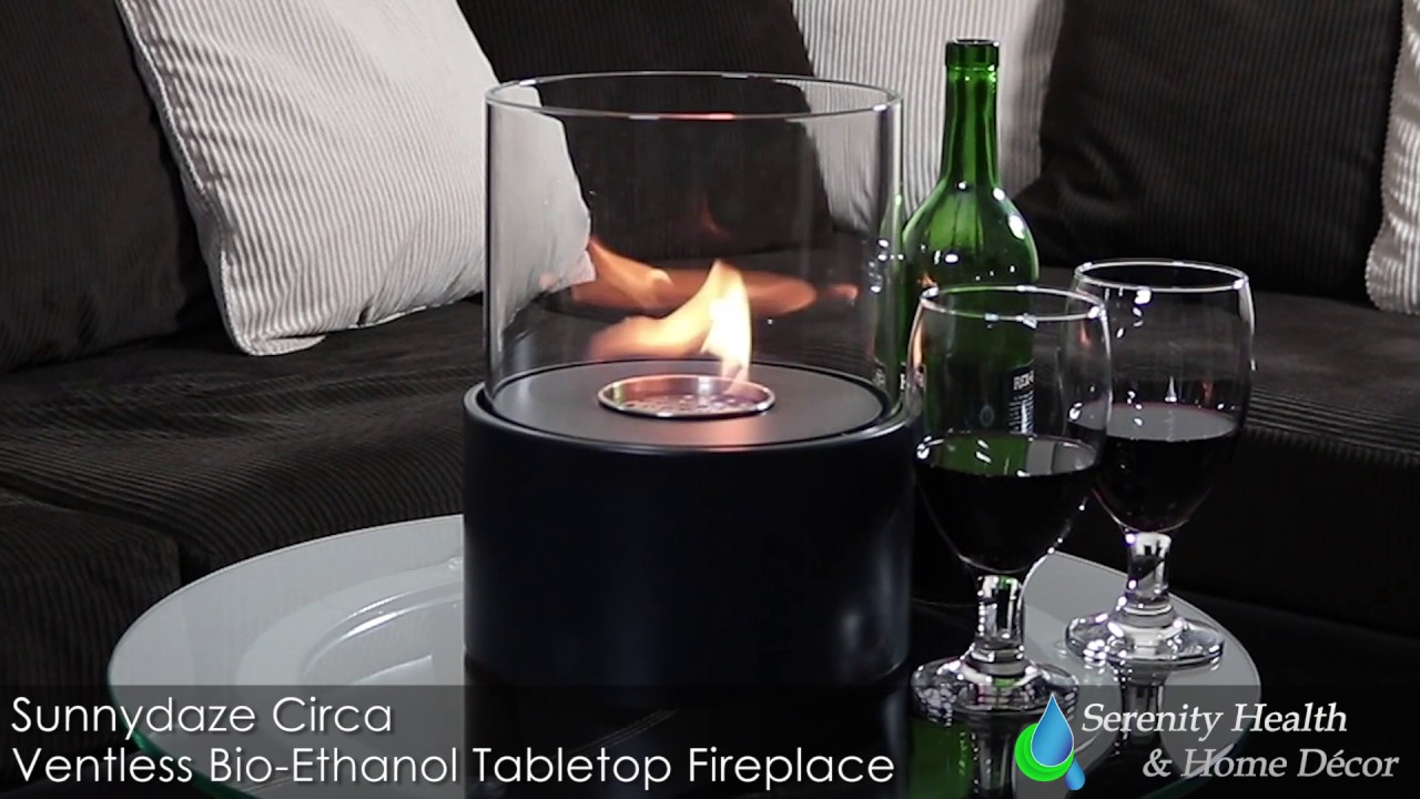 sunnydaze circa ventless tabletop bio ethanol fireplace yl 024