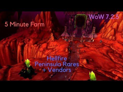 5 Minute WoW Gold farm - Hellfire Peninsula (rares + vendors)