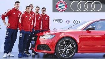 FC Bayern Munich Receives  New Audi Cars