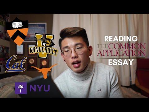 Reading My Common App Essay That Got Me Accepted to Princeton, Northwestern, Vanderbilt