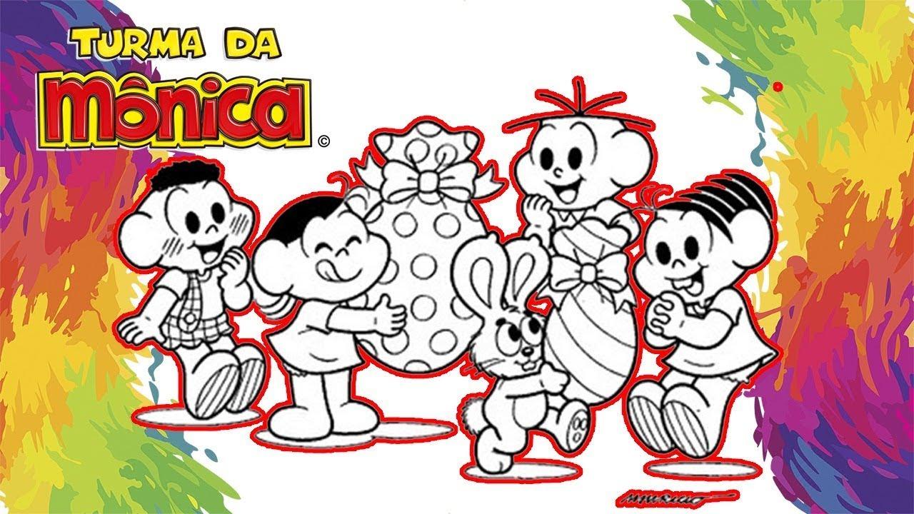 Colorindo Turma Da Monica Com Ovos De Pascoa Em Portugues Video