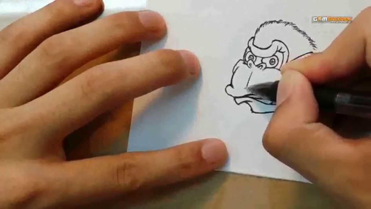 ボールペンイラスト講座!!第8キャラ 「ゴリラ」:Ballpoint pen illustrations course 「Kong」 , YouTube