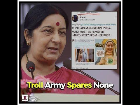 Sushma Swaraj Abused Online Over Inter-Faith Couple Passport Issue+
