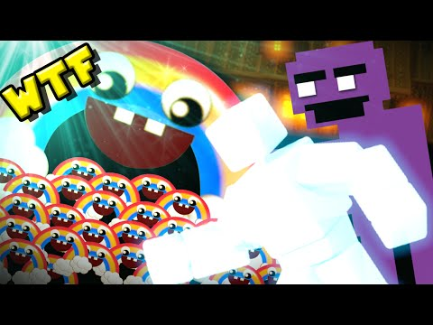 Beating the Rainbow Mini-game & Unlocking Purple Guy!!! || FNAF World (Update 2.0) Part 3