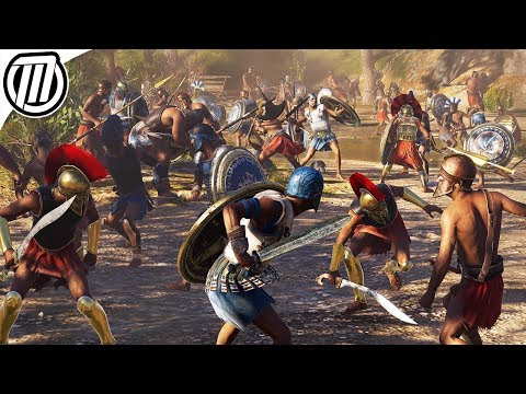 Assassin's Creed Odyssey: HUGE 300 Soldier Battle Gameplay (Spartan Conquest 4K) thumbnail
