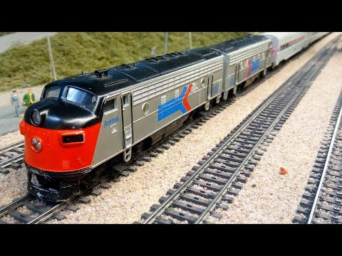 Amtrak Model Train for Passenger Railroad Service in HO Scale