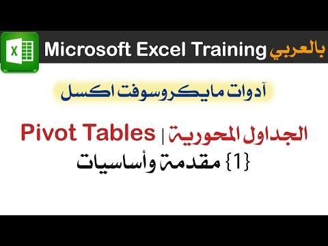 01 مقدمة وأساسيات | الجداول المحورية اكسل Pivot Tables Excel