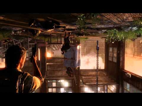 The Last Of Us: Remastered - Bill's Town: Joel Trapped Upside Down Shooting Sequence (Clickers)