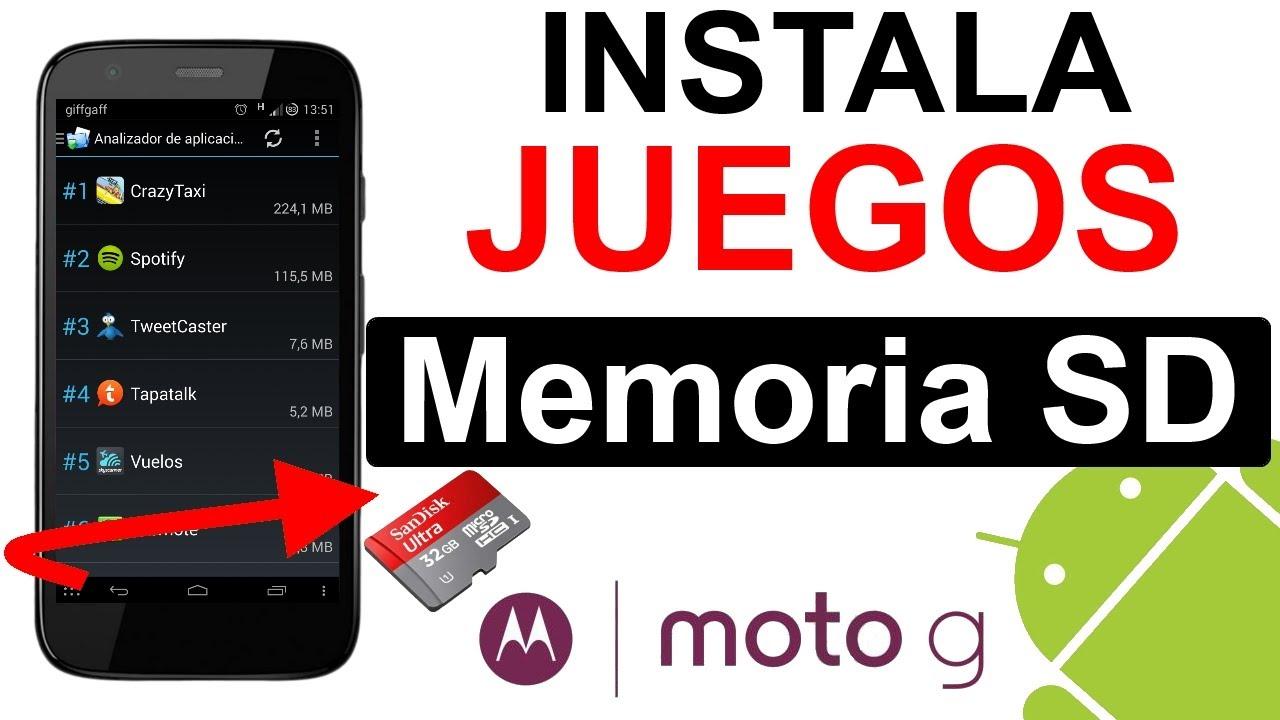moto g tarjeta de memoria