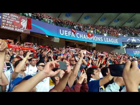 70 Thousand LFC fan's singin Y.N.W.A at NSC Olimpiyskiy Stadium Liverpool FC vs Real Madrid in Kiev.
