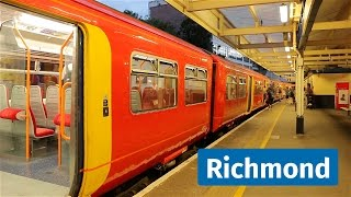 South West Trains and London Underground at Richmond, featuring Celia