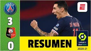 París Saint-Germain 3-0 Stade Rennes. Doblete de Di María; el primero, GOLAZO de Angelito | Ligue 1