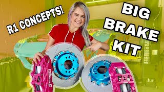 Drift car gets BIG brakes!! Unboxing + Install
