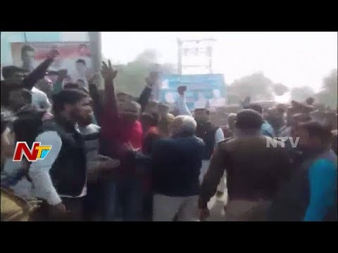 Locals Protest in Uttar Pradesh Forced to Change Rahul Gandhi's Tour Route  || NTV