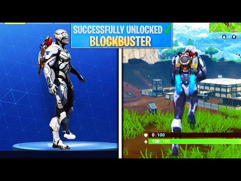 "NEW ""Blockbuster"" SKIN UNLOCKED! Blockbuster Skin GAMEPLAY! Fortnite Blockbuster Challenges Season 4"