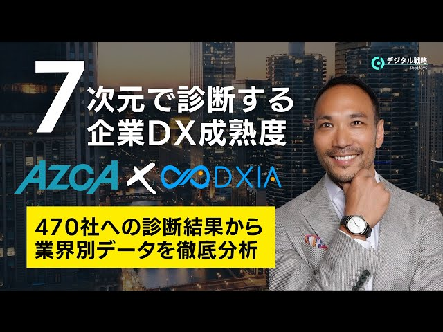 【AZCA✖️DXIA】7次元で診断する企業DX成熟度