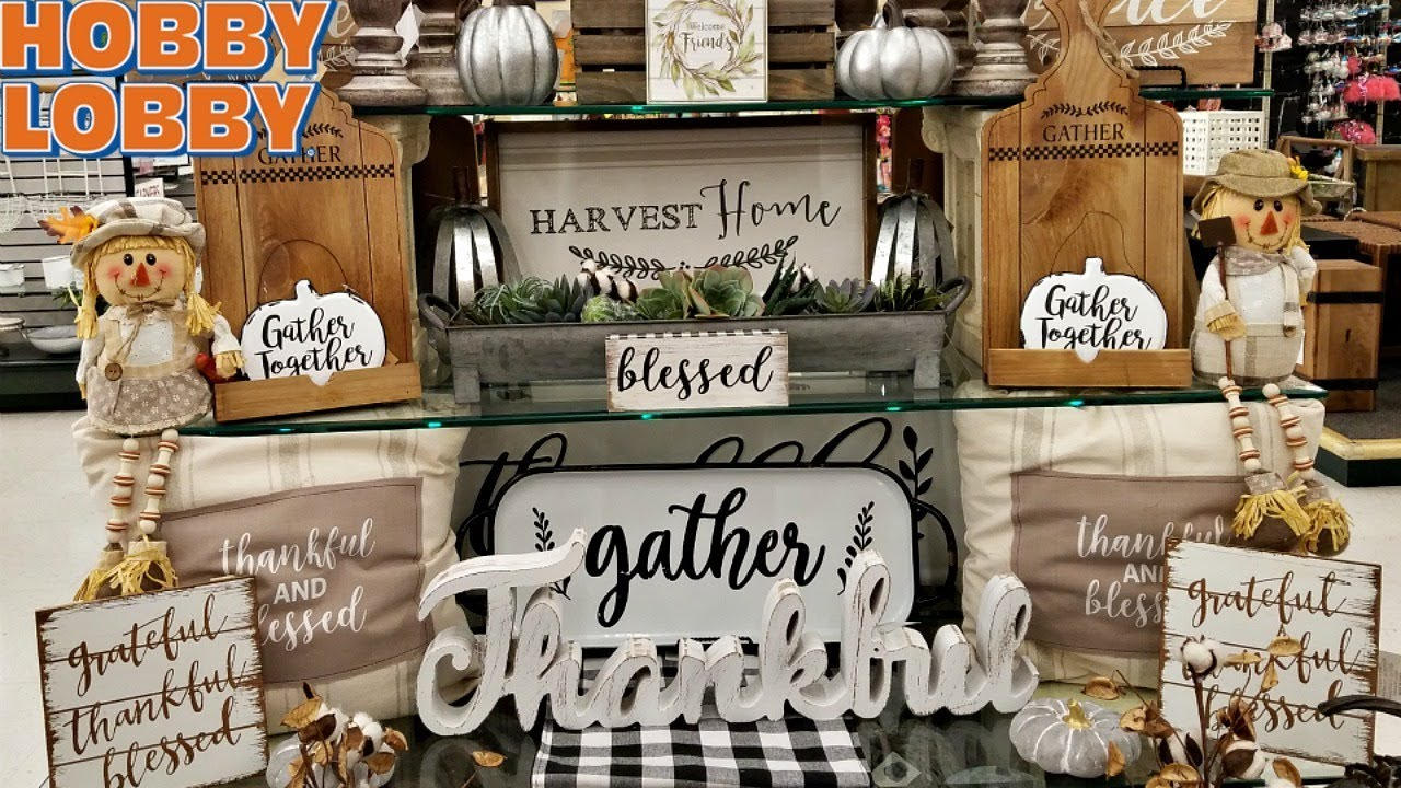 Hobby Lobby Halloween Decorations 2019.Shop With Me Hobby Lobby Fall Harvest Decor Walk Through July 2018