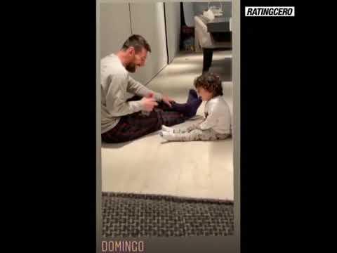 Pura ternura: El video de Lio y su hijo Ciro