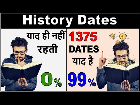 How to remember history dates [Hindi - हिन्दी] ✔